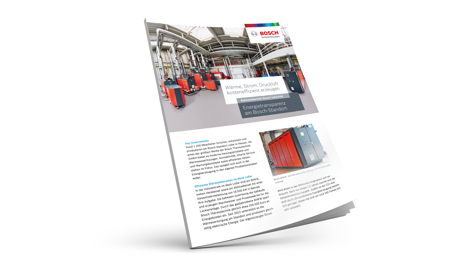 Bosch site Lollar: Generating heat, electric power and compressed air efficiently
