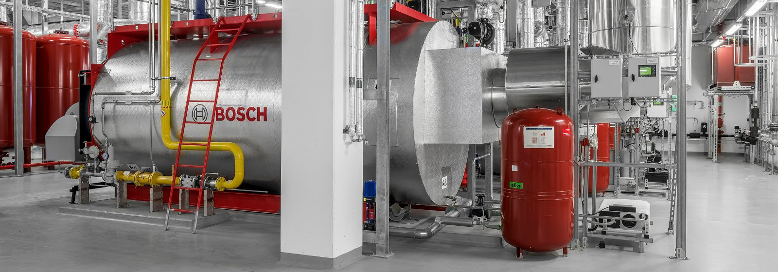 Components for hot water boilers